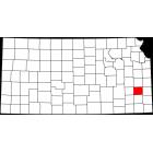 USGS TOPO 24K Maps  - Allen County - KS - USA