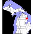 USGS TOPO 24K Maps  - Alcona County - MI - USA