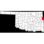 USGS TOPO 24K Maps  - Adair County - OK - USA