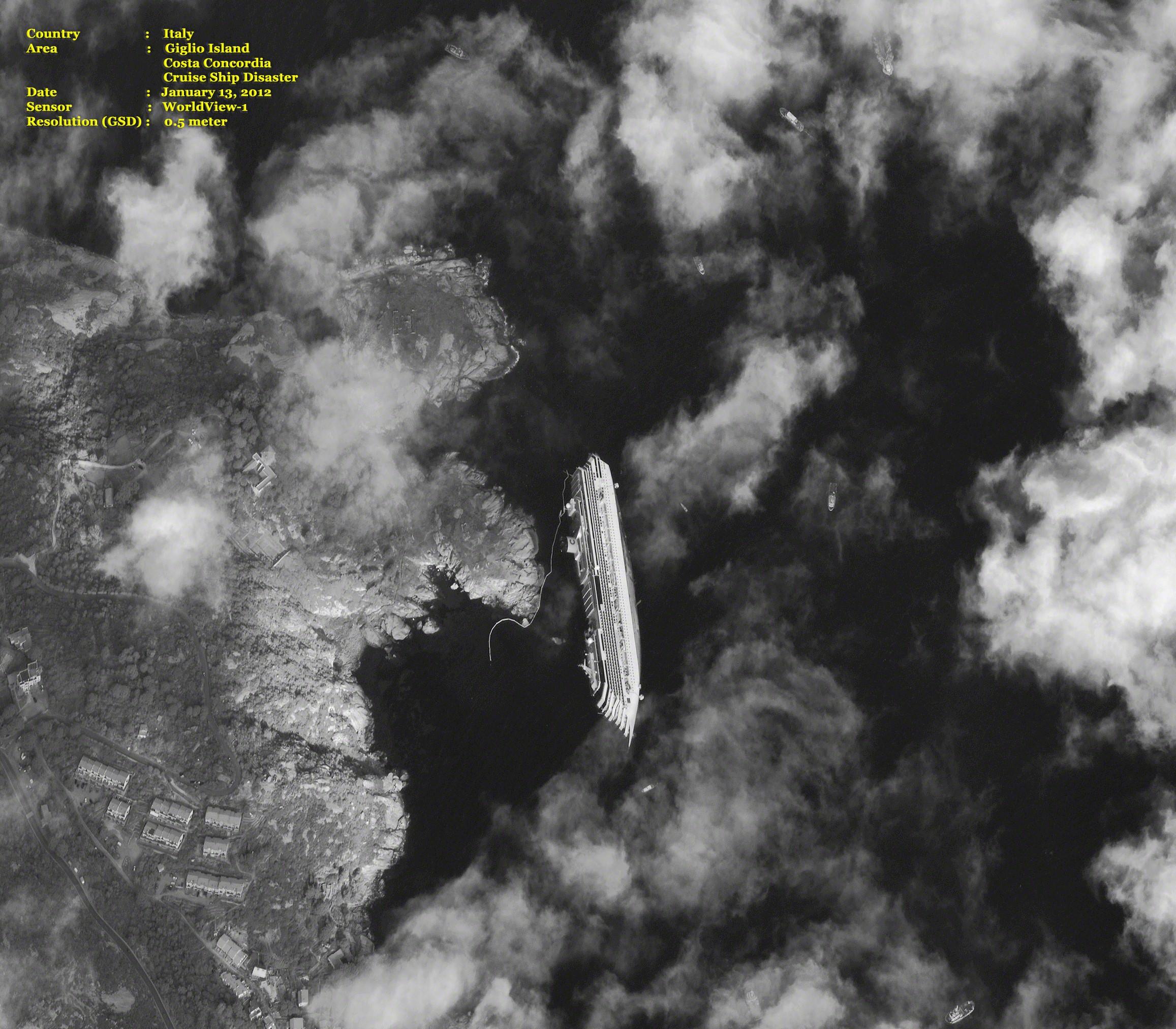 Costa Concordia Disaster  Giglio, Tuscany