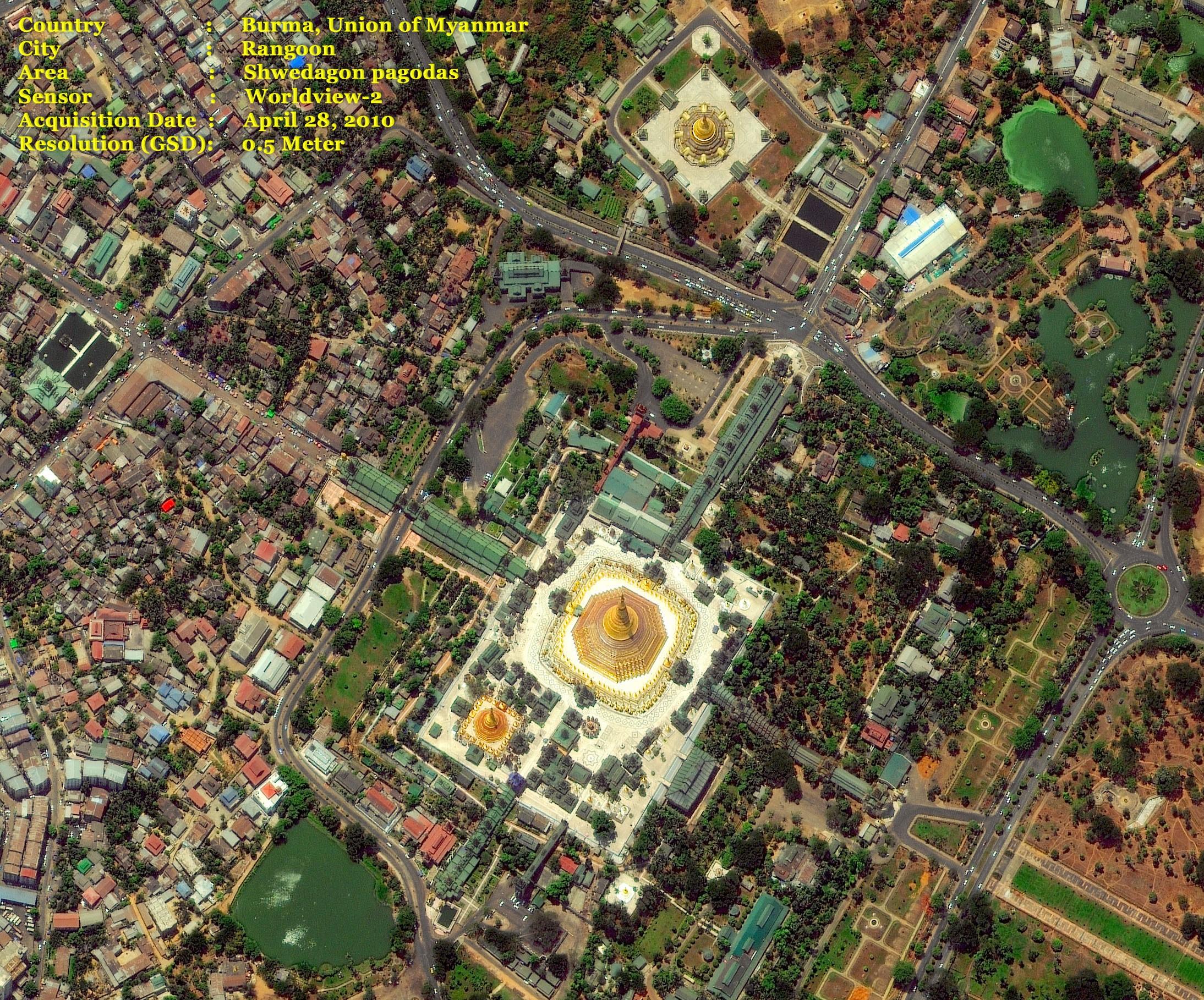 Burma, Ragoon, Myanmar  Shwedagon Pagodas